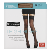 No nonsense Thigh High Lace Top Pantyhose
