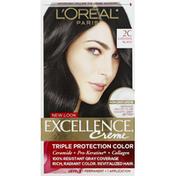 Excellence Permanent Hair Color, Creme, Luscious Black 2C