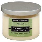 Candle Lite Candle, Eucalyptus & Cucumber