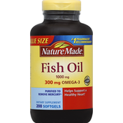 Nature Made Fish Oil, 1000 mg, Softgels, Value Size