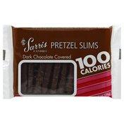 Sarris Candies Pretzel Slims, Dark Chocolate Covered
