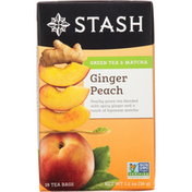 Stash Tea Green Tea Ginger Peach with Matcha
