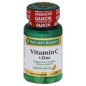 Nature's Bounty Vitamin C, + Zinc, Quick Dissolve Tablets