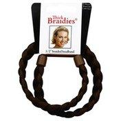 Thick Braidies Dark Brown, 1/2 Inch