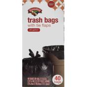 Hannaford Trash Bags Tie Flap 30 Gallon