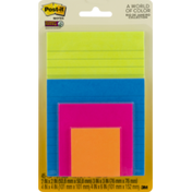 Post-it A World of Color Notes Super Sticky - 4 PK