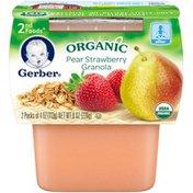 Gerber Organic 2 Nd Foods 2F Organic Pear Strawberry Granola  Organic Purees Fruit/Grain