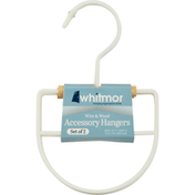 Whitmor Accessory Hangers, Wire & Wood, Set of 2