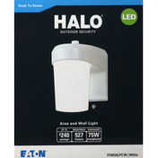 Halo Area and Wall Light, LED, White, 75W