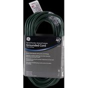 GE Grounded Cord, Outdoor 40 Ft Green 16 Gauge 3 Wire