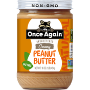 Once Again Peanut Butter, Creamy, Unsweetened, Natural
