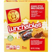 Lunchables Around The World Asian Style BBQ Chicken Meal Kit with Chicken Nuggets, BBQ Sauce & Hello Panda Chocolate Candy