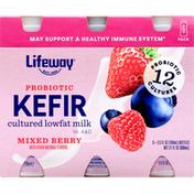 Lifeway Kefir, Probiotic, Mixed Berry, 6 Pack