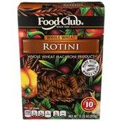 Food Club Whole Wheat Macaroni Product, Rotini