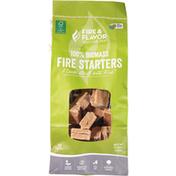 Fire & Flavor Fire Starters, 100% Biomass