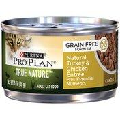 Purina Pro Plan True Natural Natural Turkey & Chicken Entree Cat Food