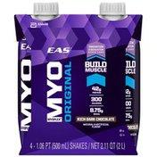 EAS Rich Dark Chocolate EAS Myoplex Original Protein Shake Rich Dark Chocolate Ready-to-Drink Bottles