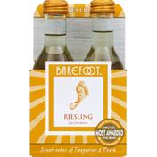 Barefoot Riesling White Wine 4 Single Serve Bottles