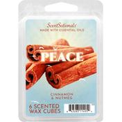 ScentSationals Wax Cubes, Scented, Cinnamon & Nutmeg, Peace