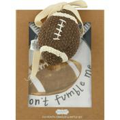 Mud Pie Crawler & Rattle Set, Football, 0-6 Month