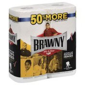 Brawny Paper Towels, Pick-A-Size, White, Jumbo, 2-Ply