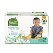 Seventh Generation Baby Diapers Size 2, 12-18 Lbs