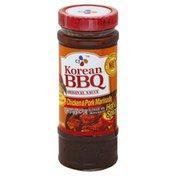 CJ Marinade, Chicken & Pork, Korean BBQ Original Sauce, Hot & Spicy