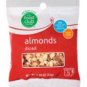 Food Club Almonds, Diced