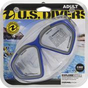 US Divers Cozumel Mask, Adult, Explore Series