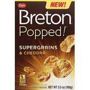 Dare Breton Crackers, Air Popped, Supergrains & Cheddar