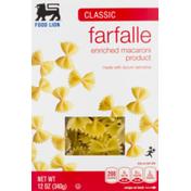 Food Lion Pasta, Farfalle, Classic, Box