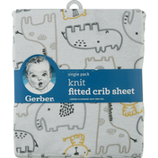 Gerber Fitted Crib Sheet, Knit, Single Pack