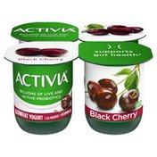 Activia Low Fat Probiotic Black Cherry Yogurt