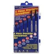 Best Way Tools Screwdriver Set, Precision, 6 Piece