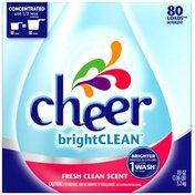 Cheer Fresh Clean Scent 80 Loads Powder Laundry Detergent