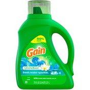 Gain Aromaboost Liquid Laundry Detergent, Fresh Water Sparkle