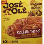 José Olé Rolled Taco's Beef Nacho