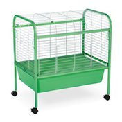 Prevue Hendryx Small Green & White Pet Animal Cage With Stand