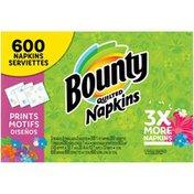 Bounty Paper Napkins, Print