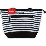 Igloo Bag, Stripe Print, Black & White