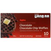 Hy-Vee Chocolate Chocolate Chip Waffles