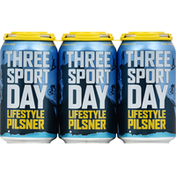Everybodys Brewing Beer, Lifestyle Pilsner, Three Sport Day