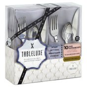 Tableluxe Flatware Sets, Faux, Designer