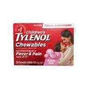 Tylenol Children's Bubblegum-Flavored Pain & Fever Chewables Tablets