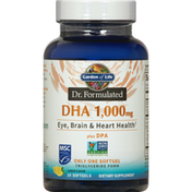 Garden of Life DHA, 1000 mg, Lemon Flavor, Softgels