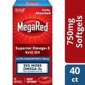 MegaRed Omega-3 Krill Oil Supplement 750mg, Ultra Strength Softgels, Has No Fishy Aftertaste