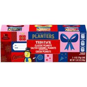 Planters Holiday Edition Nut Trio Pack with Classic Peanuts, Salted Caramel Peanuts & Cocoa Peanuts