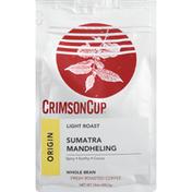 Crimson Cup Sumatra Mandheling Whole Bean Coffee Light Roast
