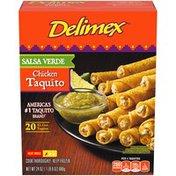 Delimex Salsa Verde Chicken XL Corn Taquitos