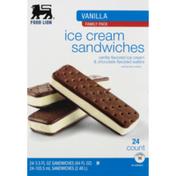 Food Lion Ice Cream Sandwiches, Vanilla, Family Pack, Box